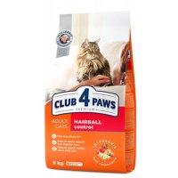 Club 4 Paws для взрослых кошек для выведения шерсти