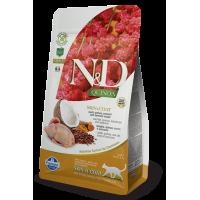 Farmina N&D Cat Quinoa Skin & Coat (Перепел, киноа, кокос, куркума)