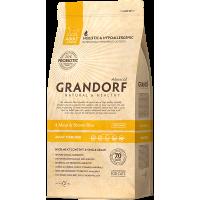 Сухой корм для кошек Grandorf Living Probiotics 4 Meat & Brown Rice Adult Sterilized