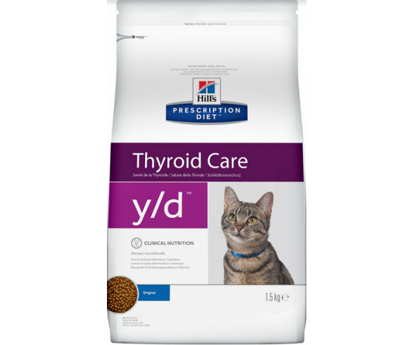 Сухой корм Hill's Prescription Diet y/d Thyroid Care для кошек