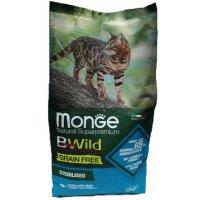 Сухой корм для кошек Monge Cat Bwild Grain Free Sterilized Tuna