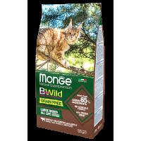 Сухой корм для кошек Monge Сat BWild Grain Free Large Buffalo/Potatoes