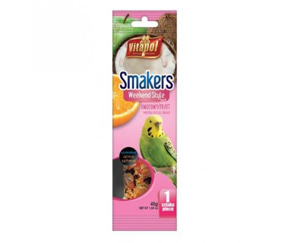"""Vitapol  """"Smakers Weekend Style"""" для волн. попугаев с фруктами  45 г."""