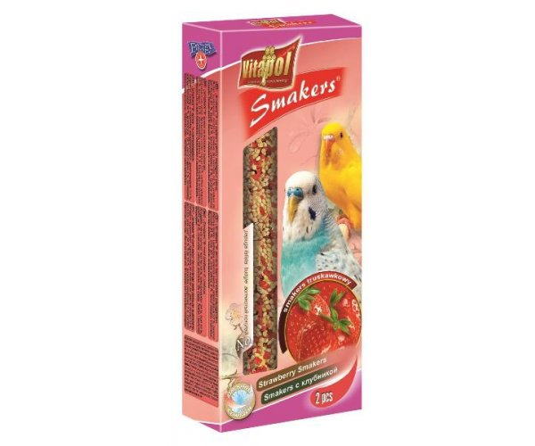 """Vitapol"" Smakers с клубникой для волн. попугаев, 90 г"