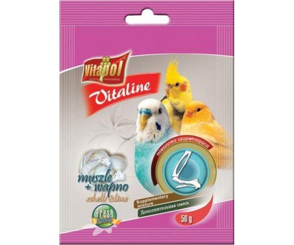 "Vitapol Ракушки + кальций для птиц ""Vitaline"", 120 г"