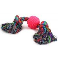 """Triol Игрушка для собак """"Веревка, 2 узла и мяч"""""""