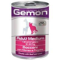 Консервы для собак Gemon Dog Medium Adult Beef/Liver