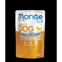 Пауч Monge Grill Puppy&Junior Chicken/Turkey