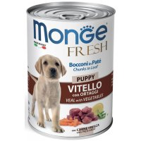Консервы для собак Monge Fresh Puppy Veal/Veget