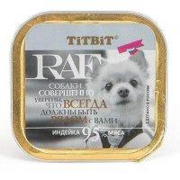 """""""Titbit"""" Консервы для собак RAF (Индейка)"""