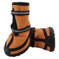 YXS138 Ботинки для собак рыжие
