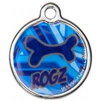 Адресник RogZ ID Tag Large Metal Navy Zen