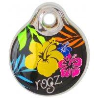 Адресник пластиковый RogZ ID Tag Dayglo Floral