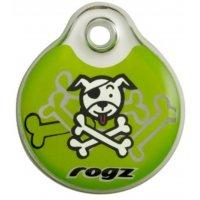 Адресник пластиковый RogZ ID Tag Lime Bone