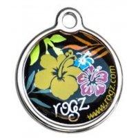 Адресник RogZ ID Tag Large Metal Dyaglo Floral