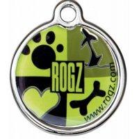 Адресник RogZ ID Tag Large Metal Lime Juice