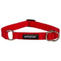 Ошейник-полуудавка AmiPlay Reflective M (Красный)