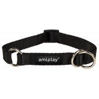 Ошейник-полуудавка AmiPlay Reflective XL (Черный)