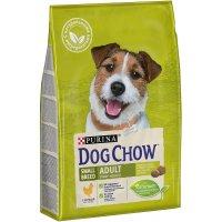 Dog Chow для взрослых собак мелких пород (курица)