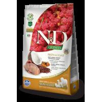 Farmina N&D Quinoa Adult All Breeds Skin & Coat (Перепел, киноа, кокос, куркума)