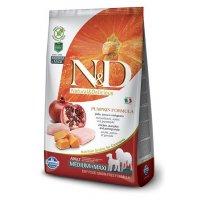 Farmina N&D GF Pumpkin Adult Medium & Maxi (Тыква, курица, гранат)