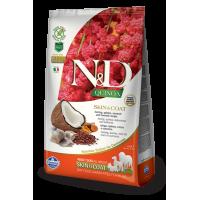 Farmina N&D Quinoa Adult All Breeds Skin & Coat (Сельдь, киноа, кокос, куркума)