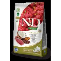 Farmina N&D Quinoa Adult All Breeds Skin & Coat (Утка, киноа, кокос, куркума)