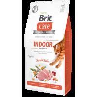 Brit Care Cat GF Indoor Anti-stress для взрослых домашних кошек.