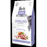 Brit Care Cat GF Sterilized Weight Control (Утка, индейка)