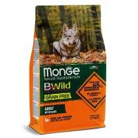 Monge Dog BWild Grain Free Adult All Breeds (Утка, картофель)